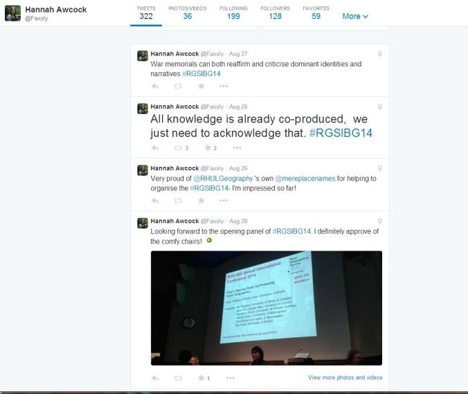 #RGSIBG14 Twitter Feed