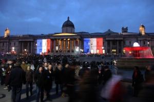Trafalgar Square on Sunday evening (Photo: Graeme Awcock).