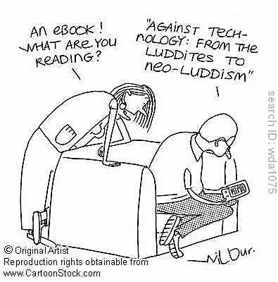 A comic mocking modern-day Luddites (Source: htmlgiant).