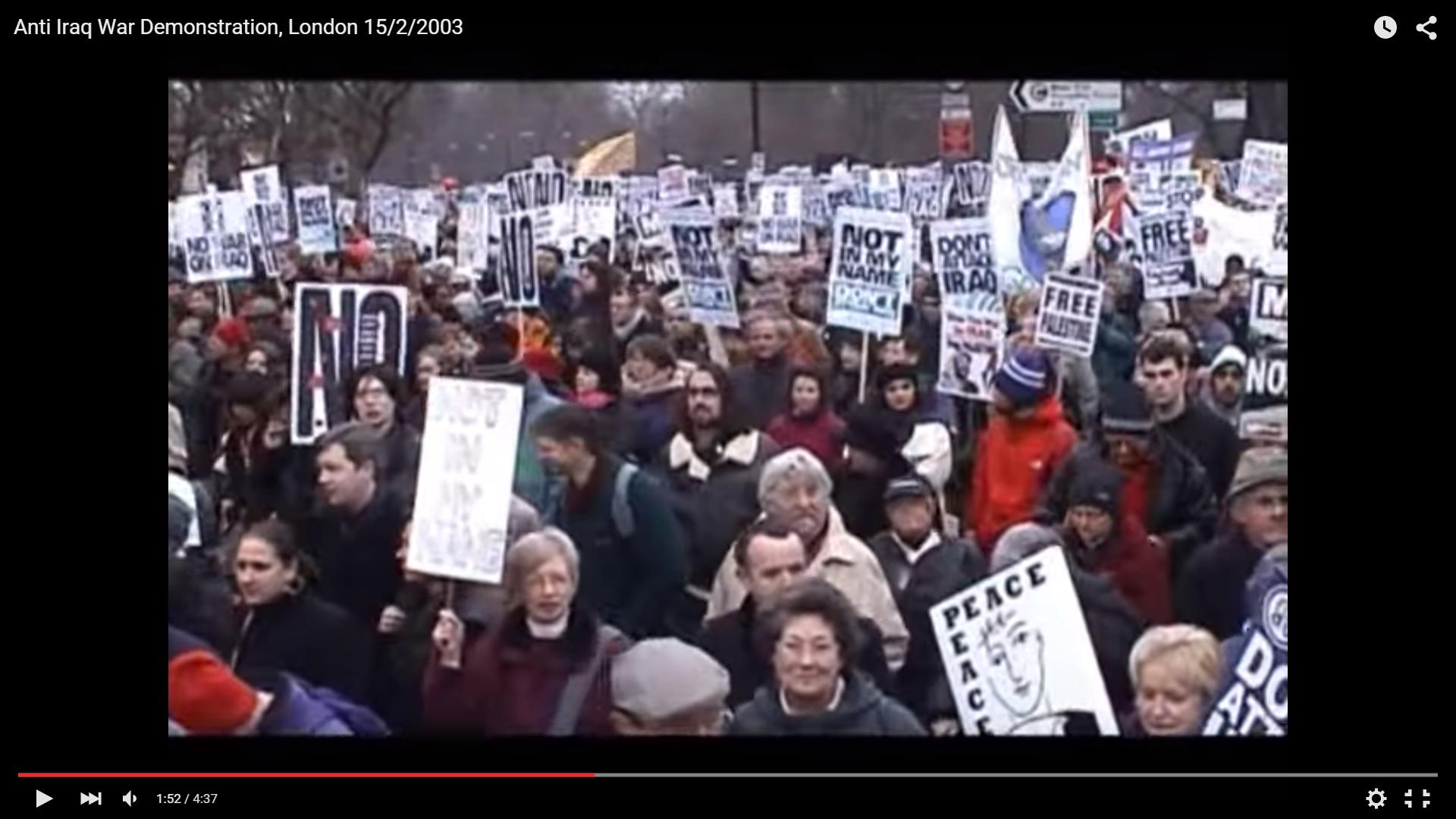 Anti-Iraq War demo 2003
