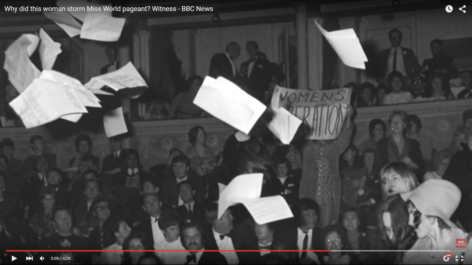 Miss World 1970 disruption BBC News