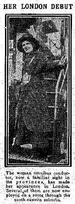 1915 Female bus conductor