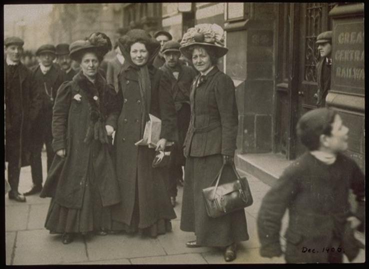minnie-baldock-christabel-pankhurst-and-edith-new