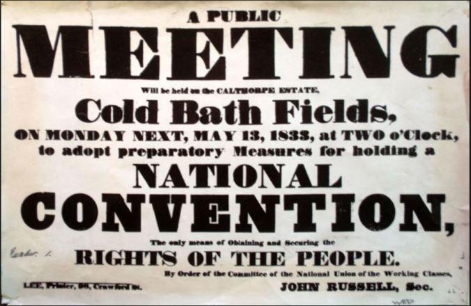Coldbath Fields Meeting Poster